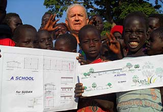 <strong>South Sudan - October 2015</strong>. The Salesian missionaries Fr Vincenzo Donati and Bro. Giacomo Comino (pictured), have opened 60 schools scattered in the various dioceses of South Sudan to give access to education to approximately 13,500 children.