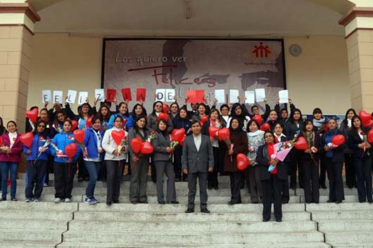 Huancayo, Peru – 8 March 2016 - the International Women`s Day Celebration at the Salesian College, Santa Rosa.