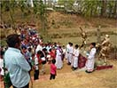 Guwahati, India - March 2016 - On 11 March Fr Thomas Vattathara, Provincial of Guwahati, blessed the new Stations of the Cross at the Shrine of Don Bosco of Gojapara. The ceremony was attended by thousands of the faithful.